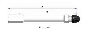 Прямой никелированный жесткий удлинитель S-4529-2